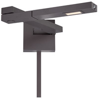 WAC Lighting BL-1021L-BZ Flip 10 inch 8.50 watt Bronze Swing Arm Wall Light in Left alternative photo thumbnail