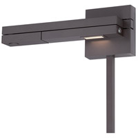 Flip 10 inch 8.50 watt Bronze Swing Arm Wall Light in Left