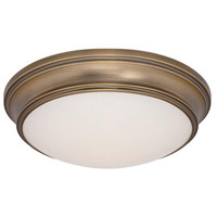 Astoria LED 13 inch Brushed Brass Flush Mount Ceiling Light