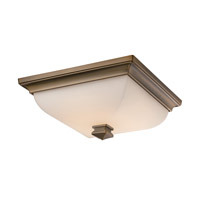 Bristol LED 13 inch Brushed Brass Flush Mount Ceiling Light