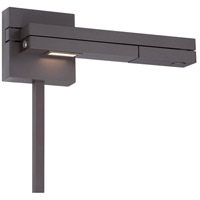Flip 10 inch 8.50 watt Bronze Swing Arm Wall Light in Right