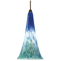 WAC Lighting MP-614LED-BG/DB European LED 5 inch Dark Bronze Pendant Ceiling Light in Blue/Green, Canopy Mount MP