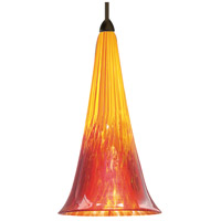 WAC Lighting MP-614LED-YR/DB European LED 5 inch Dark Bronze Pendant Ceiling Light in Yellow/Red (European), Canopy Mount MP