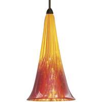 WAC Lighting MP-614LED-YR/DB European LED 5 inch Dark Bronze Pendant Ceiling Light in Yellow/Red (European) Canopy Mount MP