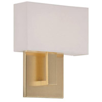 Manhattan LED 7 inch Brushed Brass ADA Wall Sconce Wall Light