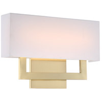 WAC Lighting WS-13115-BR Manhattan LED 15 inch Brushed Brass ADA Wall Sconce Wall Light