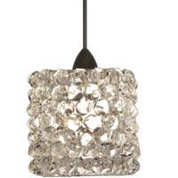 WAC Lighting MP-539-WD/DB Eternity Jewelry 1 Light 3 inch Dark Bronze Pendant Ceiling Light in White Diamond Canopy Mount MP