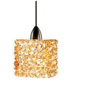 WAC Lighting MP-539-CD/DB Eternity Jewelry 1 Light 3 inch Dark Bronze Pendant Ceiling Light in Champagne Diamond Canopy Mount MP