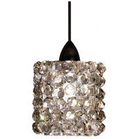 WAC Lighting MP-LED539-BI/DB Eternity Jewelry LED 3 inch Dark Bronze Pendant Ceiling Light in Black Ice, Canopy Mount MP