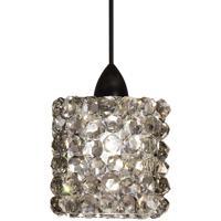 WAC Lighting MP-LED539-BI/DB Eternity Jewelry LED 3 inch Dark Bronze Pendant Ceiling Light in Black Ice Canopy Mount MP