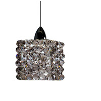 WAC Lighting MP-LED539-BI/CH Eternity Jewelry LED 3 inch Chrome Pendant Ceiling Light in Black Ice Canopy Mount MP
