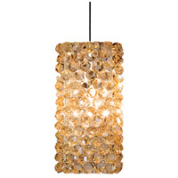 WAC Lighting MP-939-CD/CH Eternity Jewelry 1 Light 3 inch Chrome Pendant Ceiling Light in 50, Champagne Diamond, Canopy Mount MP