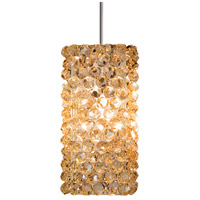 WAC Lighting MP-939-CD/BN Eternity Jewelry 1 Light 3 inch Brushed Nickel Pendant Ceiling Light in 50, Champagne Diamond, Canopy Mount MP