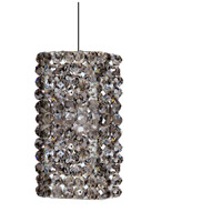 WAC Lighting MP-939-BI/CH Eternity Jewelry 1 Light 3 inch Chrome Pendant Ceiling Light in 50 Black Ice Canopy Mount MP
