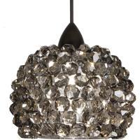 WAC Lighting MP-542-BI/DB Eternity Jewelry 1 Light 5 inch Dark Bronze Pendant Ceiling Light in Black Ice, Canopy Mount MP