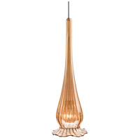 WAC Lighting MP-943-GL/BN Eternity Jewelry 1 Light 4 inch Brushed Nickel Pendant Ceiling Light in Gold (Eternity Jewelry), Canopy Mount MP