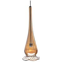 WAC Lighting MP-943-BZ/CH Eternity Jewelry 1 Light 4 inch Chrome Pendant Ceiling Light in Bronze Iridescent With Gold Trim, Canopy Mount MP