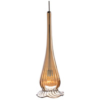 WAC Lighting MP-943-BZ/BN Eternity Jewelry 1 Light 4 inch Brushed Nickel Pendant Ceiling Light in Bronze Iridescent With Gold Trim, Canopy Mount MP