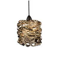 WAC Lighting MP-LED544-GL/DB Eternity Jewelry LED 5 inch Dark Bronze Pendant Ceiling Light in Gold (Eternity Jewelry), Canopy Mount MP