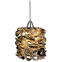 WAC Lighting MP-LED544-GL/CH Eternity Jewelry LED 5 inch Chrome Pendant Ceiling Light in Gold (Eternity Jewelry) Canopy Mount MP