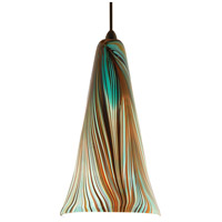 WAC Lighting MP-630LED-PK/DB Artisan LED 5 inch Dark Bronze Pendant Ceiling Light in Peacock, Canopy Mount MP