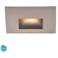 Outdoor Lighting 3.9 watt Brushed Nickel Step Light in 3000K, 277, 1, LED, 17.62 inch