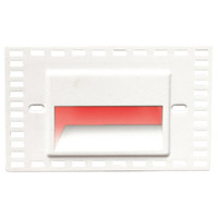 WAC Lighting WL-LED100TR-RD-WT Outdoor Lighting 3.9 watt White Step Light in Red LED 34.62 inch