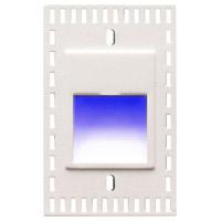 WAC Lighting WL-LED200TR-BL-WT Outdoor Lighting 3.3 watt White Step Light in Blue LED 2.00 inch