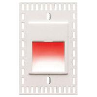 WAC Lighting WL-LED200TR-RD-WT Outdoor Lighting 3.3 watt White Step Light in Red LED 2.00 inch