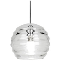 WAC Lighting MP-LED916-CL/CH European LED 6 inch Chrome Pendant Ceiling Light in Canopy Mount MP