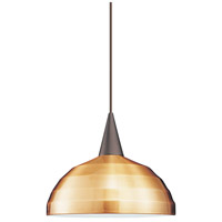 WAC Lighting HTK-F4-404LEDCO/BN Cosmopolitan LED 12 inch Brushed Nickel Pendant Ceiling Light in Copper, H Track