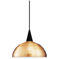 Cosmopolitan LED 12 inch Black Pendant Ceiling Light in Copper, J Track