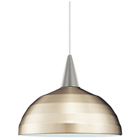 WAC Lighting PLD-F4-404LEDBN/BN Cosmopolitan LED 7 inch Brushed Nickel Pendant Ceiling Light in 12, Canopy Mount PLD