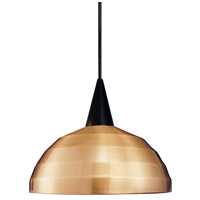 Cosmopolitan LED 7 inch Black Pendant Ceiling Light in 12, Copper, Canopy Mount PLD