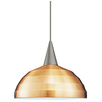 WAC Lighting PLD-F4-404LEDCO/BN Cosmopolitan LED 7 inch Brushed Nickel Pendant Ceiling Light in 12, Copper, Canopy Mount PLD