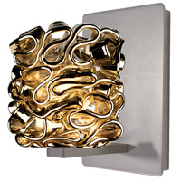 Eternity Jewelry 1 Light 4 inch Brushed Nickel Wall Sconce Wall Light