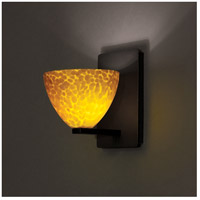 WAC Lighting WS58LED-G541AM/RB Americana LED 4 inch Dark Bronze Wall Sconce Wall Light in 6, Amber (Americana)