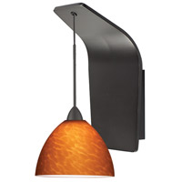 WAC Lighting WS72-G541AM/RB Americana LED 5 inch Dark Bronze Pendant Wall Sconce Wall Light in 50, Amber (Americana)