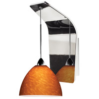 WAC Lighting WS72-G541AM/CH Americana LED 5 inch Chrome Pendant Wall Sconce Wall Light in 50, Amber (Americana)