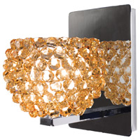 WAC Lighting WS58LED-G542CD/CH Eternity Jewelry 1 Light 4 inch Chrome Wall Sconce Wall Light in 6, Champagne Diamond