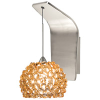 WAC Lighting WS72LED-G542CD/BN European LED 5 inch Brushed Nickel Pendant Wall Sconce Wall Light