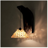 Eternity Jewelry 1 Light 5 inch Dark Bronze Pendant Wall Sconce Wall Light in Champagne Diamond