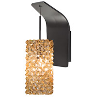 WAC Lighting WS72-G939CD/RB Eternity Jewelry 1 Light 5 inch Dark Bronze Pendant Wall Sconce Wall Light in 50, Champagne Diamond