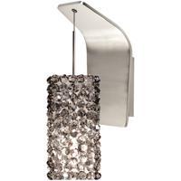 WAC Lighting WS72-G939BI/BN Eternity Jewelry 1 Light 5 inch Brushed Nickel Pendant Wall Sconce Wall Light in 50, Black Ice