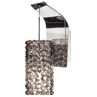 WAC Lighting WS72LED-G939BI/CH Eternity Jewelry LED 5 inch Chrome Pendant Wall Sconce Wall Light in 6.4, Black Ice