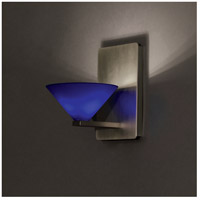 WAC Lighting WS58LED-G512BL/BN Contemporary LED 4 inch Brushed Nickel Wall Sconce Wall Light in 6, Blue (Contemporary)