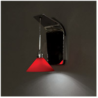 WAC Lighting WS72-G512RD/CH Contemporary LED 5 inch Chrome Pendant Wall Sconce Wall Light in 50, Red (Contemporary)