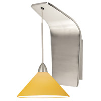 WAC Lighting WS72LED-G512AM/BN Pacific Northwest LED 5 inch Brushed Nickel Pendant Wall Sconce Wall Light