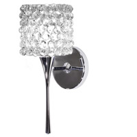 WAC Lighting WS57LED-G539WD/CH Eternity Jewelry LED 4 inch Chrome Wall Sconce Wall Light in White Diamond