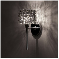 WAC Lighting WS57LED-G539BI/CH Eternity Jewelry LED 4 inch Chrome Wall Sconce Wall Light in Black Ice